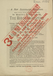 Advert For 'The Royal Shakespere', Serial